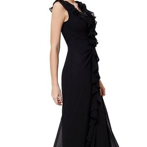 Ever Pretty Cascading Ruffle Sleeveless Gown